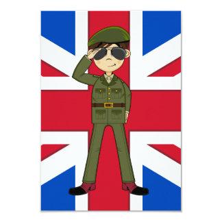 Cartão bonito do soldado RSVP do exército Convite 8.89 X 12.7cm