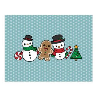 Cartão bonito dos amigos da neve