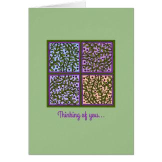 Cartão bonito dos painéis da folha e da videira