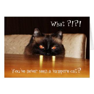Cartão Bonito, engraçado, gato do vampiro