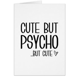 Cartão Bonito mas psicótico