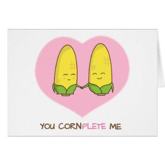 Cartão Bonito você termina-me humor do amor do casal do
