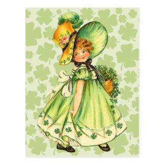 Cartão bonitos do dia de St Patrick do vintage