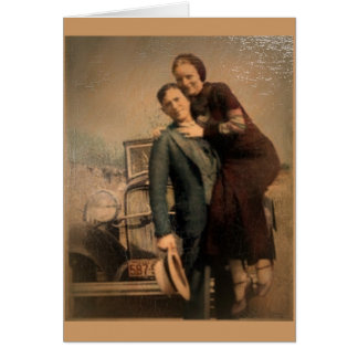 Cartão Bonnie & Clyde