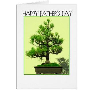 Cartão Bonsais do dia dos pais