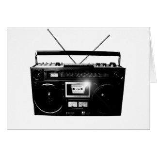 Cartão Boombox 1980 de Dadawan Ghettoblaster