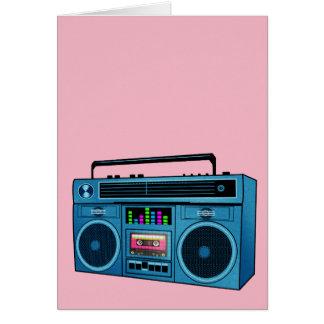 Cartão Boombox retro