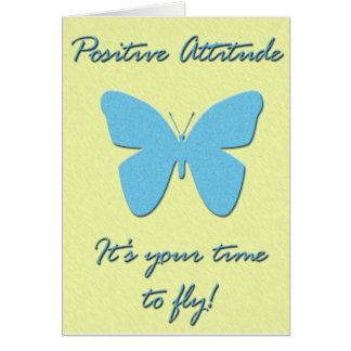 Cartão Borboleta da atitude positiva
