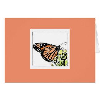 Cartão Borboleta de monarca (Colorized)