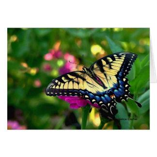 Cartão Borboleta de Swallowtail