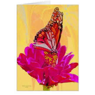 Cartão Borboleta em produtos da flor