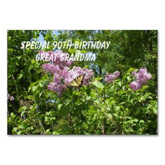 Cartão Borboleta em um Lilac Bush