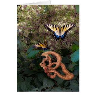 Cartão Borboleta-Felicidade na transformação