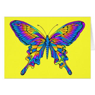 Cartão Borboleta na Multi-Cor bonita com azul
