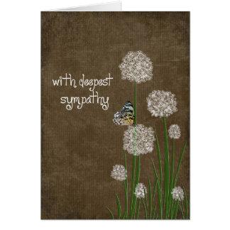 Cartão Borboleta na simpatia da flor do sopro