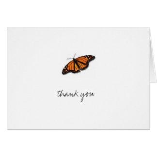Cartão borboleta, obrigado