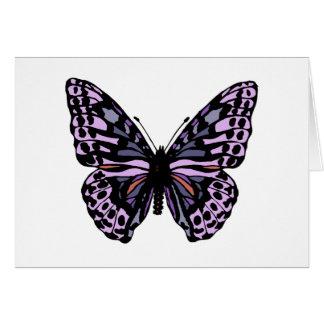 Cartão Borboleta roxa e preta