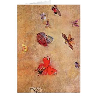 Cartão Borboletas de Odilon Redon-