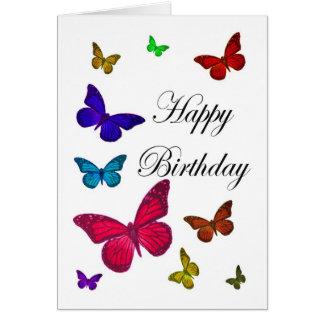 Cartão Borboletas do aniversário