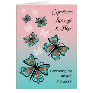 Cartão Borboletas do aniversário da recuperação de um