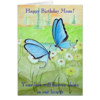Cartão Borboletas e mamã do feliz aniversario de Daisys!