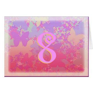 Cartão Borboletas Pastel