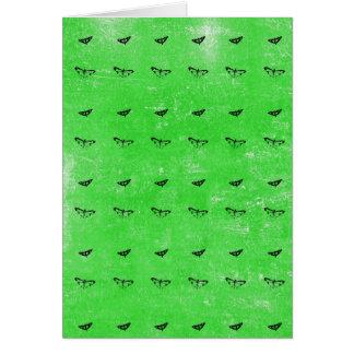 Cartão Borboletas verdes