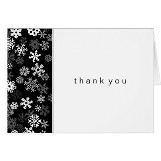 Cartão Borda do floco de neve obrigado de Mitzvah de 2