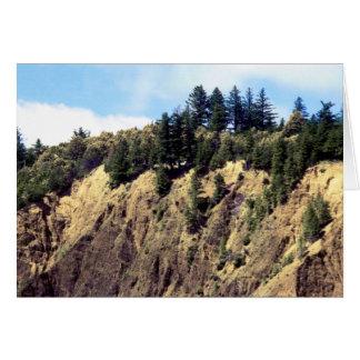 Cartão Borda em The Edge do penhasco de Kaluna
