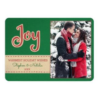 Cartão Bordado de feltro do falso da alegria   1 feriado