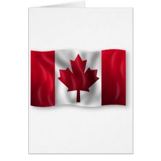 Cartão Bordo canadense da folha do emblema do país da