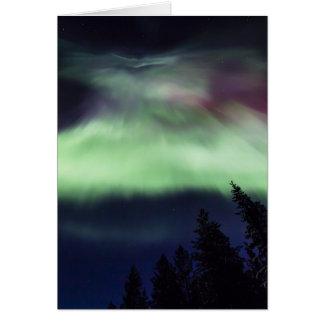 Cartão Borealis da Aurora em Lapland finlandês