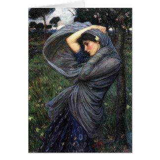 Cartão Boreas do Pre-Raphaelite do Waterhouse de John