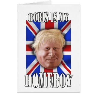 """Cartão Boris Johnson, """"Boris é Mayor do meu ficar em"""