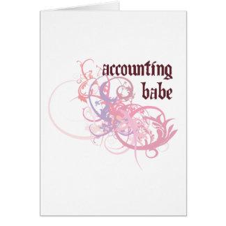 Cartão Borracho da contabilidade