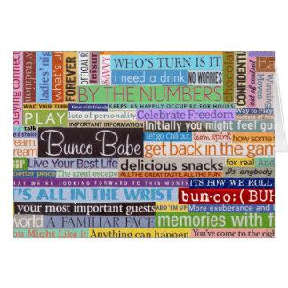 Cartão Borracho de Bunco