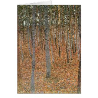 Cartão Bosque da faia de Gustavo Klimt- mim