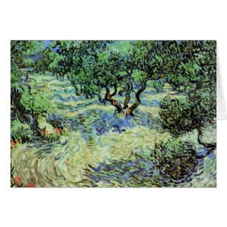 Cartão Bosque verde-oliva por Vincent van Gogh