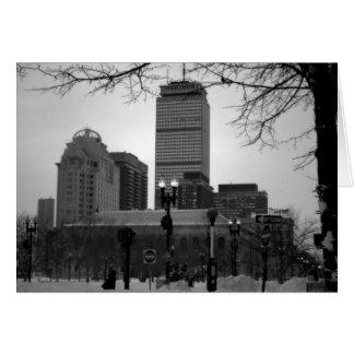 Cartão Boston na neve