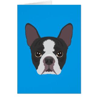 Cartão Boston Terrier