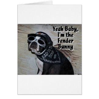 Cartão Boston Terrier:  Coelho do pára-choque
