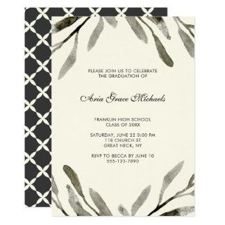 Cartão botânico da festa de formatura convite 12.7 x 17.78cm