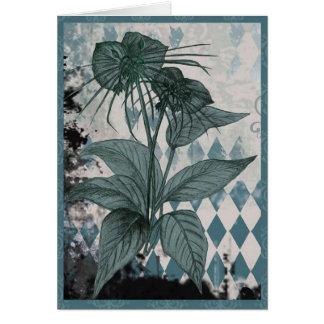 Cartão botânico da planta do bastão da cerceta