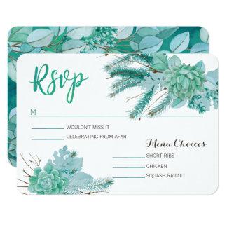Cartão botânico de Rsvp do Succulent