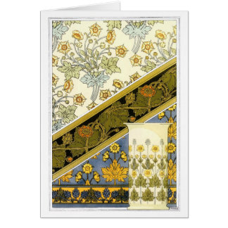 Cartão Botão de ouro do vintage, M.P. Verneuil
