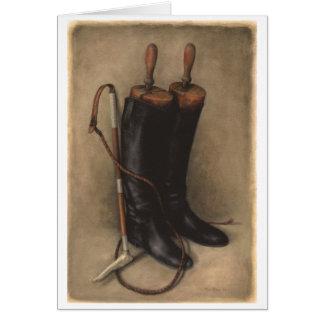 Cartão Botas & chicote da caça