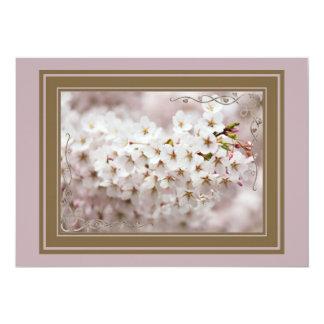 Cartão Botões cor-de-rosa da flor
