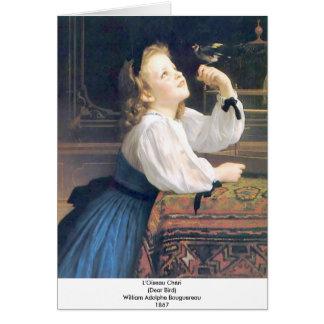 Cartão Bouguereau - L'Oiseau Cheri