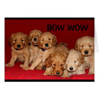 Cartão Bow Wow wow você é um grande dia dos pais do pai