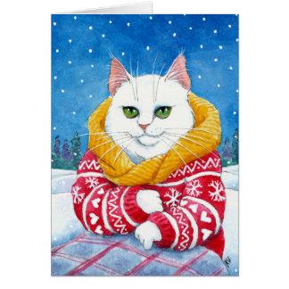 Cartão branco bonito do Natal ou do inverno do